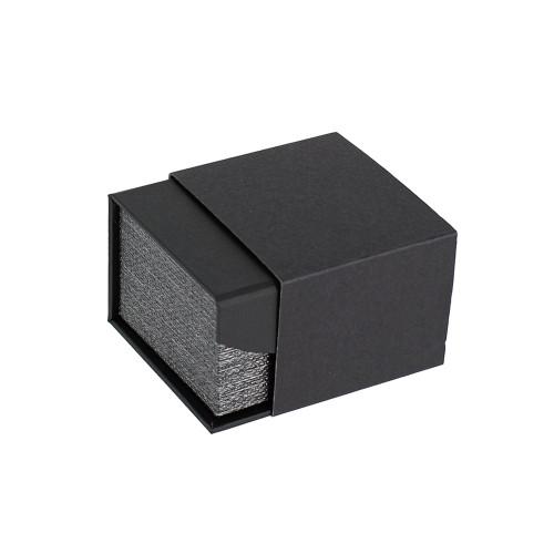 "Metalic Mesh Grey Magnetic Ring Box, 2 1/8"" x 2 3/8"" x 1 3/4""H"