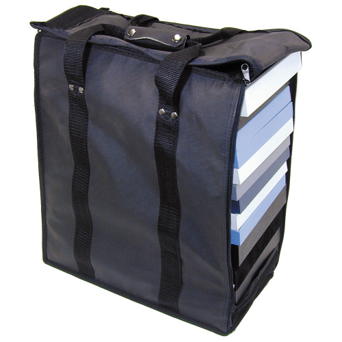 "Soft PVC carrying case - Black, 16"" x 9"" x 19""H, Hold 17 pcs Stander Tray"