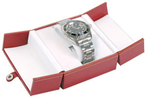"Classic Style Watch Box, 3 3/8"" x 4"" x 2 3/8"",Choose from various Color"