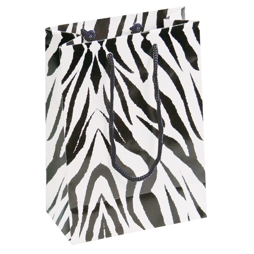 Tote Gift Bag , Zebra Glossy, (Choose from various sizes),Price for 20 pieces