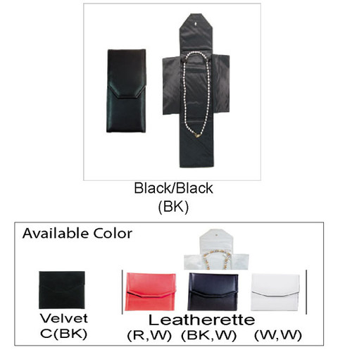 "Necklace Leatherette Folder, 4 1/4"" x 9 1/2"""