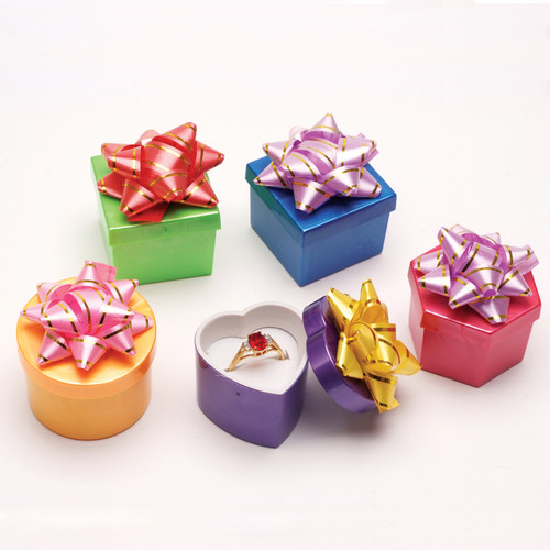 Ring Hat box , Shiny Bright ,Mix color