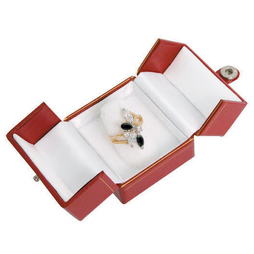 """Classic Style Ring Box, 2"""" x 2 1/8"""" x 1 3/4"""",Choose from various Color"""