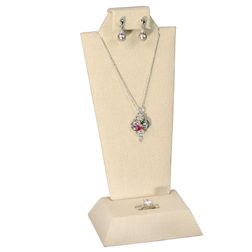 """Linen Necklace, Earring ,Ring Display,4 1/8"""" x 3"""" x 9 1/8""""H,(Choose from various Color)"""