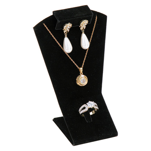 "Necklace, Earring ,Ring Display,3 1/2"" x 2 3/4"" x 5 1/2""H,(Choose from various Color)"