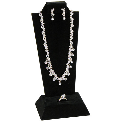 "Necklace, Earring ,Ring Display,4 1/8"" x 3"" x 9 1/8""H,(Choose from various Color)"