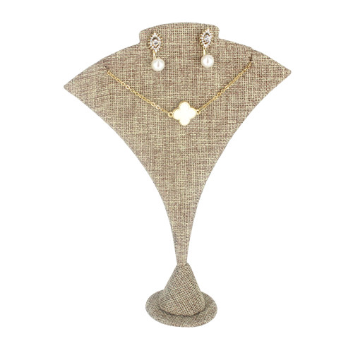 """Linen Large Curved Earring/Pendant stand, 5 1/2"""" x 2"""" x 7 1/4""""H"""