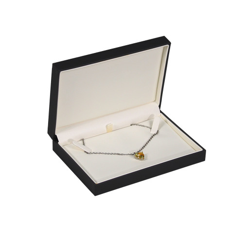 "Elegant Sleeve Necklace Box , 6 3/8"" x 4 3/8"" x 1 3/8""H ,  Choose from various Colors"