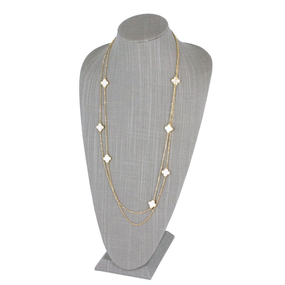 Linen Tall Necklace Display Bust 9 1 2 X 6 3 8 Quot X 18 H