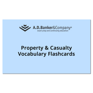 Property & Casualty Vocabulary Flashcards(Direct ship from AD BANKER)