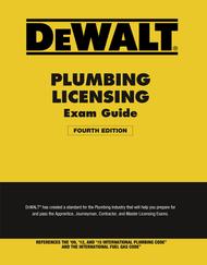 DEWALT® Plumbing Licensing Exam Guide (4th Edition)