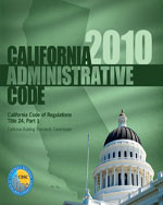 2010 California Administrative Code, Title 24 Part 1