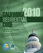 2010 California Residential Code, Title 24 Part 2.5