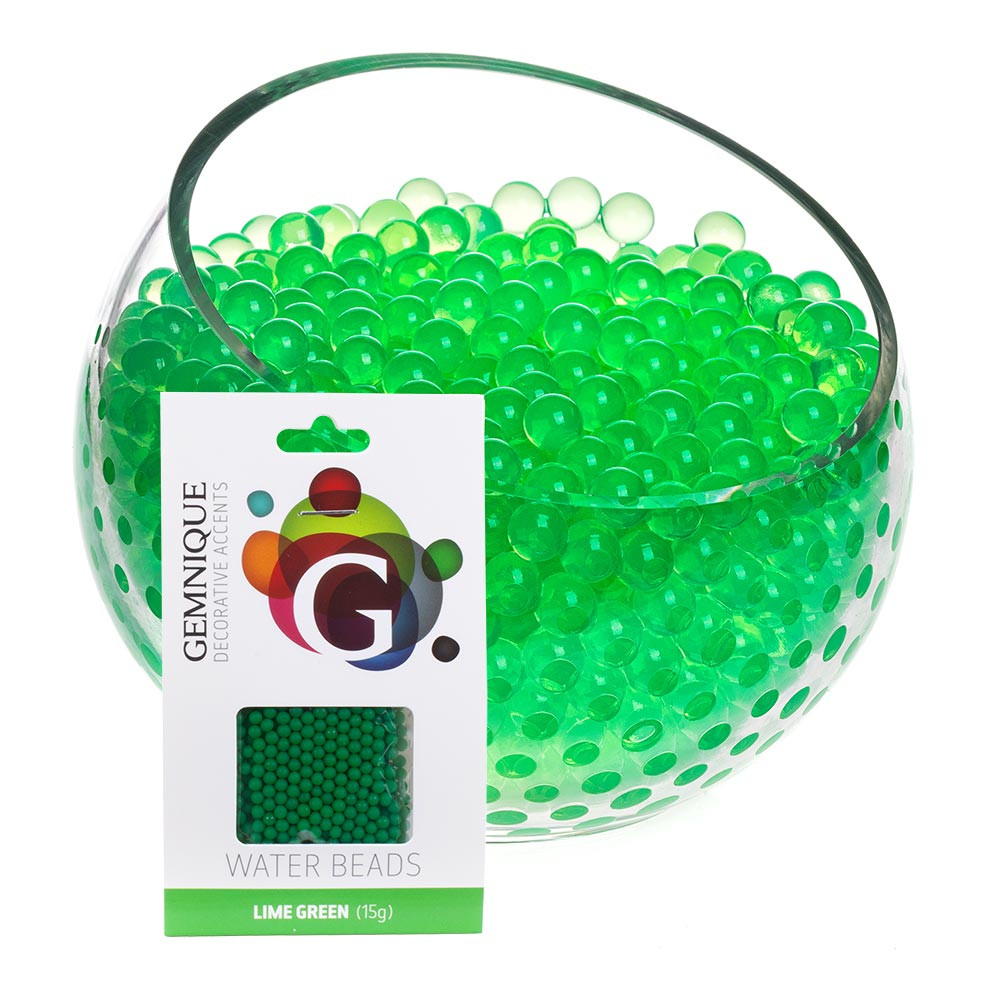 Water Beads Lime Green Gemnique