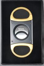 Regal Metal Cigar Cutter - Gold