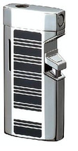 Sarome BM5 Jet Flame Lighter - Silver Black