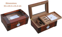 Elegant Glass Top Cigar Humidor