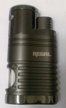 Regal Quad Flame Jet Cigar Lighter - Chrome