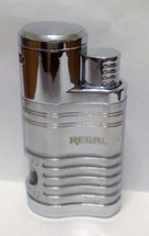 Regal Quad Flame Jet Cigar Lighter - Silver