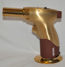 Zico Pistol Jet Lighter - Gold