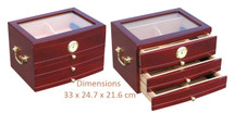 3 Drawer Cigar Cabinet - Cherry