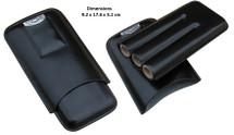 Three Cigar Holder + Cutter - Black
