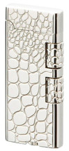 Sarome SD40 Elegant Flint Lighter - Silver Crocodile Engraving