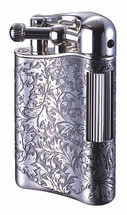 Sarome PSD12 Flint Lighter - Antique Silver