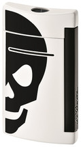 S.T. Dupont MiniJet Lighter - White with Black Skull