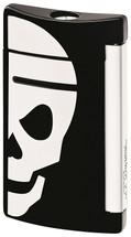 S.T. Dupont MiniJet Lighter - Black with White Skull
