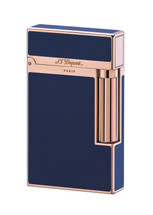 S.T. Dupont Ligne 2 'Elegance' Lighter - Rose Gold * Blue Chinese Lacquer
