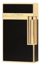 S.T. Dupont Ligne 2 'Elegance' Lighter - Black Chinese Lacquer & Gold