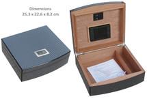 Desktop Humidor - Carbon Fiber Paper + Digital Hygrometer