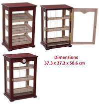 Large Display Humidor - 4 Glass Sides