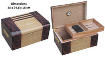 Solid Wood Desktop Humidor