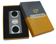 Rectagular Metal Cigar Cutter - Cohiba