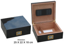 Hi Gloss Humidor with digital hygrometer