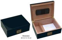 Glossy Humidor with Digital Hygrometer
