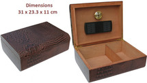 High Gloss humidor with Crocodile PVC leather