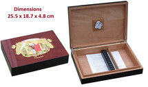 Small Desktop Humidor - Romeo Y Julieta Design