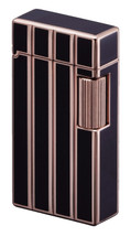 Sarome SD1 Classic Flint Lighter - Rose Gold Diamond Cut + Black Lining
