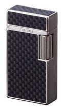 Sarome SD1 Classic Flint Lighter - Silver Satin / Carbon Fibre