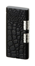Sarome SD40 Elegant Flint Lighter - Black Crocodile Pattern