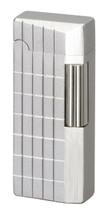 Sarome SD41 Flint Lighter - Silver Sandblast Diamond Cut