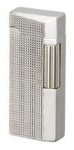 Sarome SD41 Flint Lighter - Silver Lattice Diamond Cut