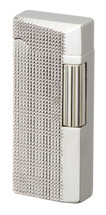 Sarome SD41 Flint Lighter - Silver Lattice Diamond Cut