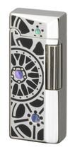 Sarome SD41 Flint Lighter - Silver Black Epoxy Wheel design