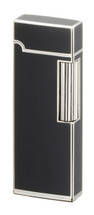Sarome SD9 Flint Lighter - Silver & Black Lacquer