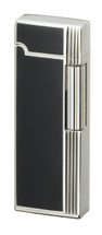 Sarome SD9 Flint Lighter - Black & Silver Diamond Cut