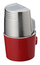 Sarome T3BM Monster Triple Jet Lighter - Red Silver